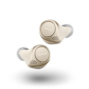 Jabra Elite 75t Truly Wireless Earbuds, Gold Beige