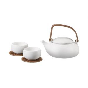 White Outdoor Tea Set
