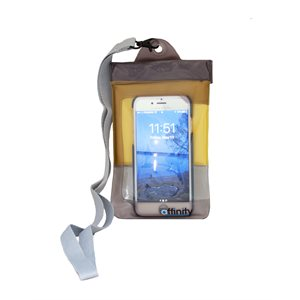 Affinity Watercase Universal for Smartphones, Clear with Yellow