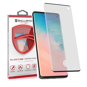 Ballistic Full Edge Glass Screen Protector for Samsung Galaxy S10, Clear