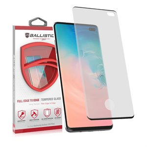 Ballistic Full Edge Glass Screen Protector for Samsung Galaxy S10 Plus, Clear