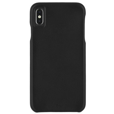 Case-Mate Barely There Leather iPhone Xs Max Black