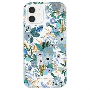 Case-Mate Rifle Paper Case for iPhone 12 Mini with Micropel - Garden Party Blue