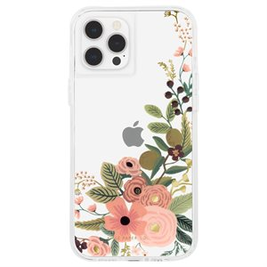 Case-Mate Rifle Paper Case for iPhone 12 / 12 Pro with Micropel - Rose