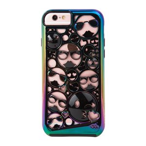 Case-Mate Tough Layers Case for iPhone 6 / 6s / 7 / 8, Emoji Black