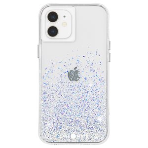 Case-Mate Twinkle Case for iPhone 12 Mini with Micropel, Ombre Stardust
