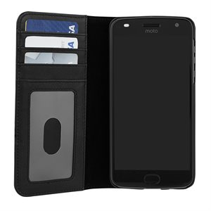 Case-Mate Wallet Folio Case for Moto Z2 Play, Black
