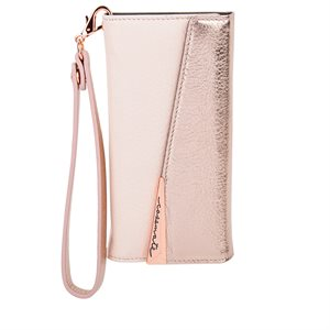 Case-Mate Wristlet Folio Case for iPhone 6s Plus / 7 Plus / 8 Plus, Rose Gold
