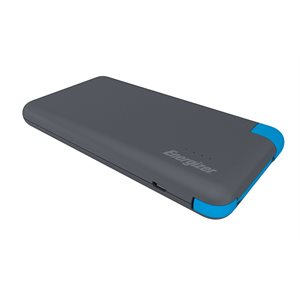 Energizer Powerbank 8000 mAh with Integrated Micro USB Charging Cable, Black