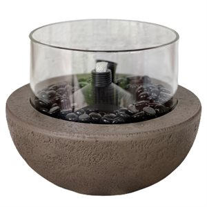 Fire Island 10.5-inch Tabletop Firebowl with Citronella Canister