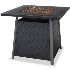 Propane Gas Outdoor Firebowl with Steel Mantle