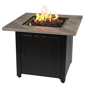 """Endless Summer The Harper 30"""" Square Gas Fire Pit"""