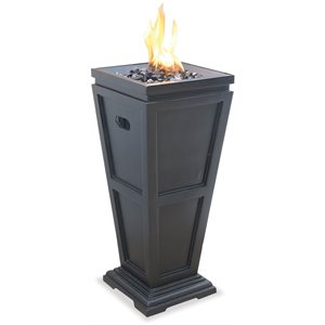 Propane Gas Outdoor Fireplace, Medium