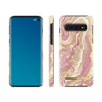 iDeal of Sweden Fashion Case for Samsung Galaxy S10, Golden Blush Marble