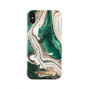 iDeal Fashion Case for iPhone Xs Max, Golden Jade Marble