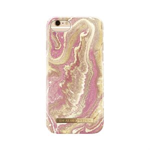 iDeal of Sweden Fashion Case for iPhone 8 / 7 / 6s, Golden Blush Marble