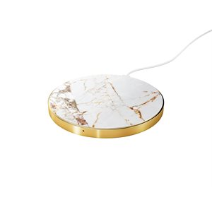 iDeal Fashion Qi Charger, Carrara Gold Marble