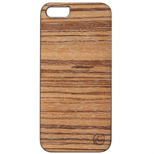 Affinity Wood Cover for iPhone 5 / 5s, White Zebra with White Sides