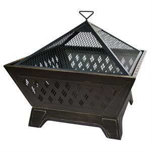 Landmann Brooke 26 inch Square Fire Pit - Antique Bronze