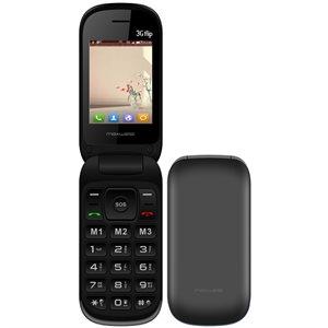 MaxWest UNO 3G Flip Phone, Black