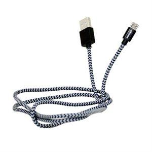 NÜPOWER Charge / Sync MFI Lightning 1 Meter Braided Cable, Grey / Black