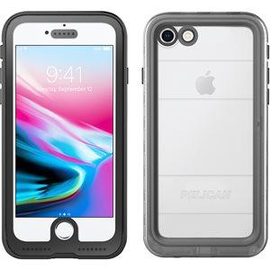 Pelican Marine Case for iPhone 8 Plus, Black / Clear