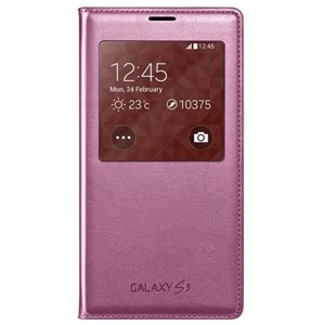 Samsung OEM Galaxy S5 S View Cover, Pink