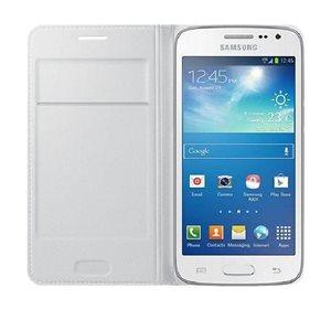 Samsung OEM Galaxy Core LTE Flip Wallet, White