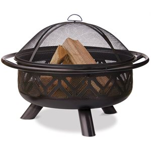 Blue Rhino 36' OR Bronze Firebowl w / Geometric Dsgn