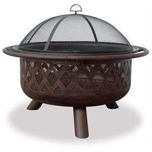 "Blue Rhino 36"" OR Bronze Firebowl w / Lattice Design"