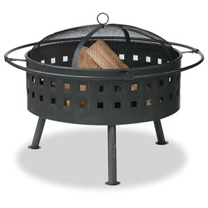 "Blue Rhino 32"" Aged Brnz Firebowl w / Lattice Design"